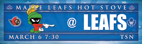 Preview and GDT: Senators at Maple Leafs (7 p.m., TSN)