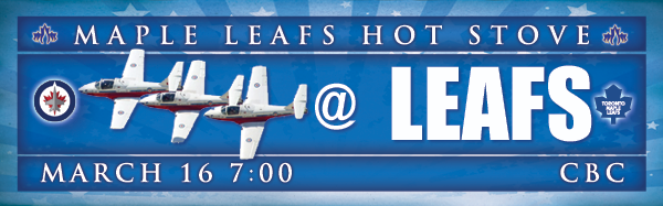 Preview and GDT: Jets at Maple Leafs (7 p.m., CBC)
